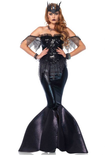 Black mermaid Costume