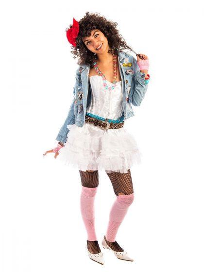 80s pop girl costume, 80s costume, madonna costume