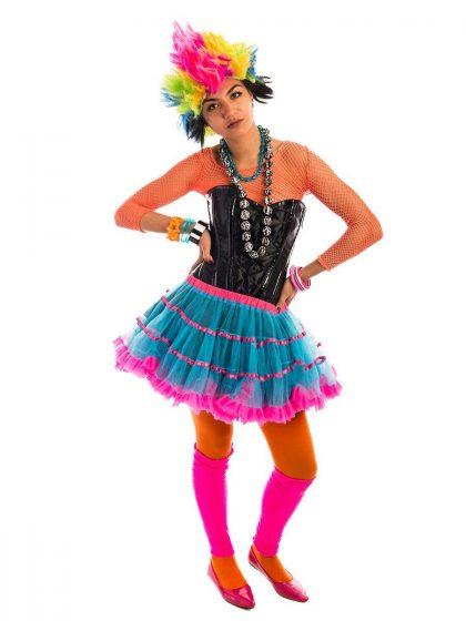 80s Rainbow Punk Girl Costume, 80s Costume, Cyndi Lauper Costume, 80s pop girl