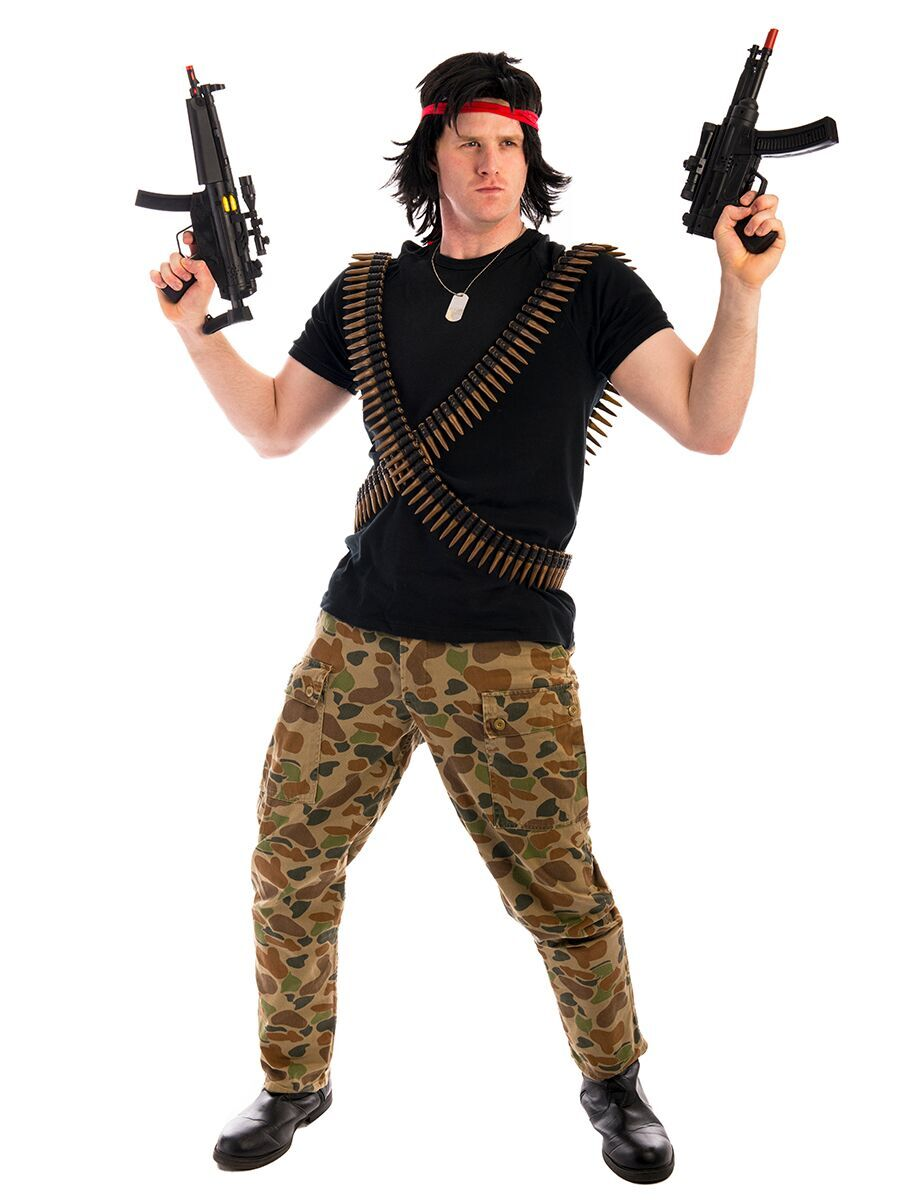soldier  sc 1 st  Creative Costumes & Rambo Soldier Costume -Creative Costumes