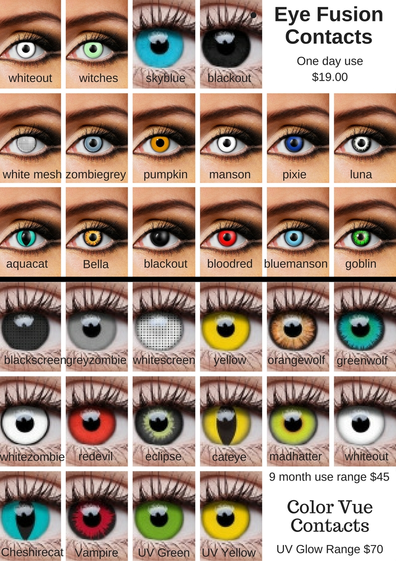 Stores That Sell Contact Lenses For Halloween | Colored Contact Lenses Costume Halloween Creative Costumes