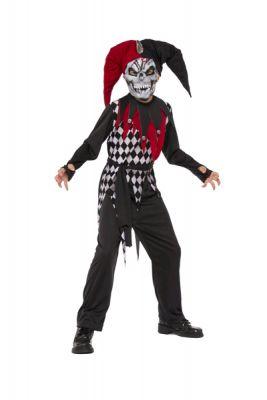 Evil jester costume child