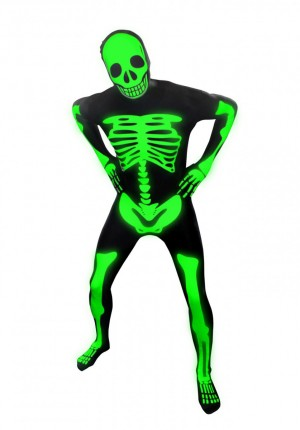 Skeleton costume.