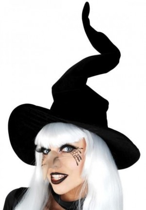 Witch hat black velvet