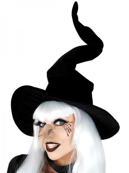Witch hat black velvet