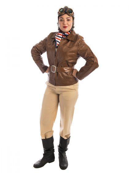 Amelia Earheart Costume, Pilot, Aviator