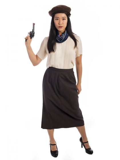 Bonnie Parker Gangster Costume, Bonnie and Clyde Costume, Bonnie Barrow Costume,1930s costume