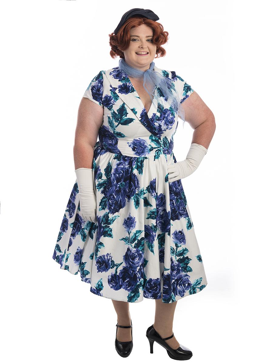 e173f183bc0ba 50s Lady Plus Size Costume, 1950s Plus size costume, fifties plus size  costume,
