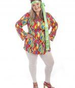 60s Hippy Plus size Costume, 70s costume, psychadelic costume, woodstock costume, 1960s costume