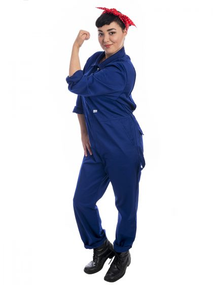 Rosie the riveter costume, WWII costume, Boiler Suit Costume