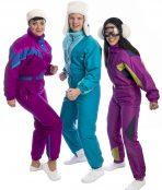 80s Retro Ski Group Costume, Fluro 80s, 80s Retro Ski Costume, Vintage Ski, Retro Ski
