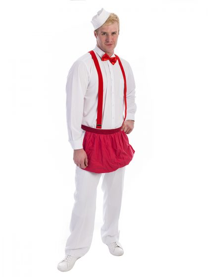 Ice Cream Scoop Man Costume, Retro Waiter costume, ice cream scooper costume,