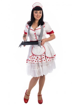 Ice Cream Scoop Girl Costume, Ice Cream Girl Costume, Waitress Costume, Retro Waitress Costume