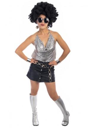 70s Disco Glomesh Gal Costume, 1970s costume, seventies costume, disco costume, studio 54 costume,
