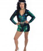70s Sequin Jumpsuit Costume, Disco Costume, 1970s costume, studio 54,