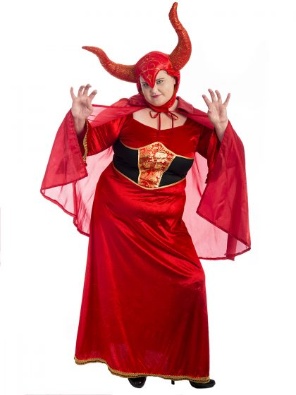 Devil Lady Plus Size Costume, Devil Costume, Devil Plus Size Costume, Demon Costume, Plus Size Halloween Costume