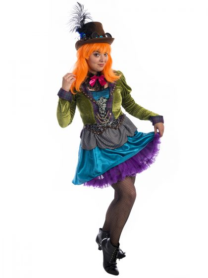 Steampunk Mad Hatter Costume, Mad Hatter Costume, Mad Hatter Ladies Costume, Steampunk Costume