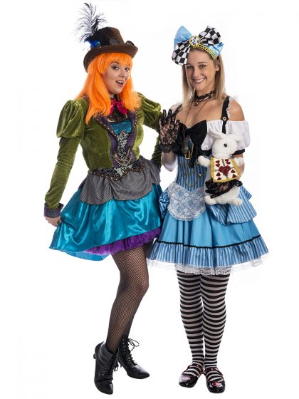 Steampunk Alice and Mad Hatter duo costume, Steampunk Alice in wonderland costume, steampunk mad hatter costume, mad hatter costume, alice in wonderland costume, wonderland costume, Steampunk alice and mad hatter costume, steampunk wonderland, steampunk costume