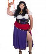 Esmerelda Plus Size Costume, Esmerelda costume, Gypsy plus size costume, Gypsy costume