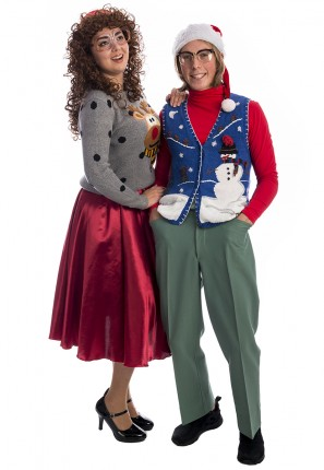 Ugly Christmas Jumper Couples Costume, Christmas Couples, couples costume, ugly jumper, xmas costume