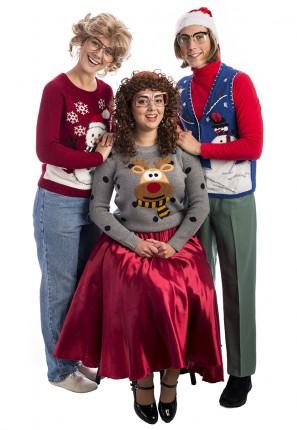 Awkward Family Christmas Group Costume, Ugly Christmas Jumper, Family Photo, Christmas costume, santa costume, xmas costume