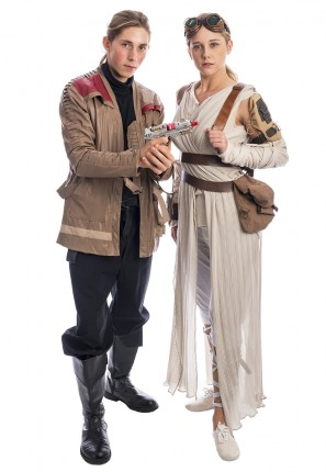 Rey and Finn Star Wars Couple Costume, Star Wars Costume, Rey Costume, Finn Costume, Rey and Finn Costumes