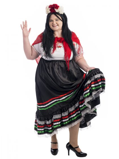 Mexican Senorita Plus Size Costume, Mexican Plus Size Costume, Day of the Dead Plus Size Costume, Mexican Costume, Fiesta, Day of the Dead Costume