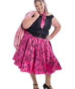Pink Lady Plus Size Costume, Pink Lady Costume, Grease Costume, 50s Costume, Plus Size Costume