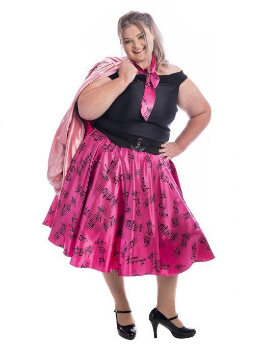 Pink Lady Plus Size Costume, Pink Lady Costume, Grease Costume, 50s Costume, Plus Size Costume