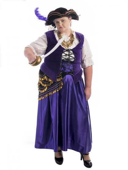Purple Pirate Plus Size Costume, Pirate Plus Size Costume, Pirate Costume, Plus Size Costume