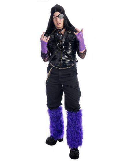 Cybergoth costume, 90s raver costume, cyber goth costume, cybergoth, meme costume