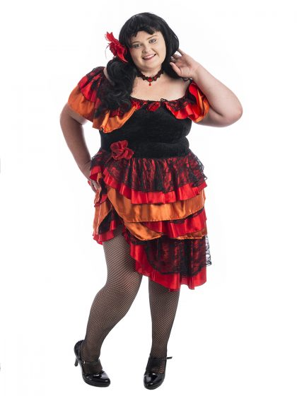 Spanish Senorita Plus Size Costume, Spanish Senorita Costume, Salsa Plus Size Costume, Salsa Costume, Plus Sized costumes