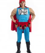 Duffman Simpsons Costume, Duffman costume, simpson costumes, duff man, the simpson