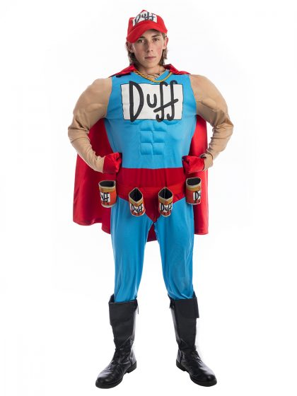 Duffman Simpsons Costume, Duffman costume, simpson costumes, duff man, the simpson
