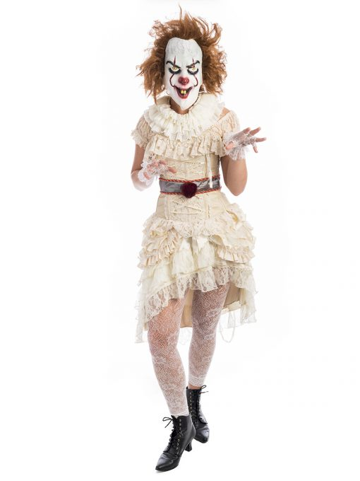 Pennywise Ladies Costume, Pennywise, IT clown, scary clown, killer clown