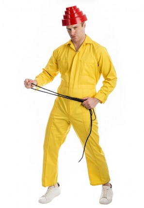 Devo Whip It Costume, 80s, eighties, deevo, yellow