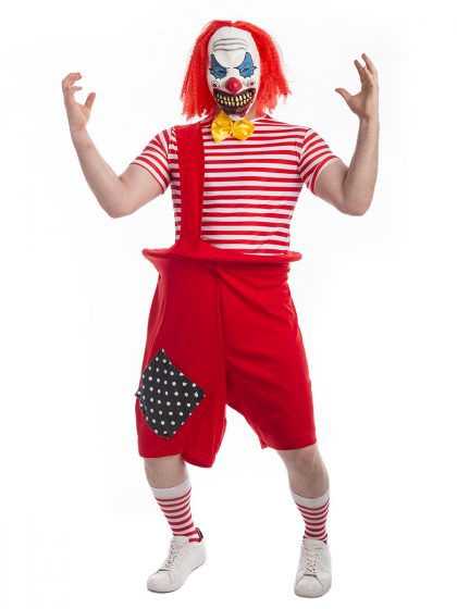 Creepy Killer Clown Costume, IT, pennywise, scary clown