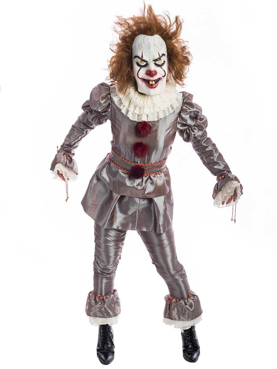Killer Clown Halloween Costumes For Girls.Pennywise It Clown Costume Creative Costumes