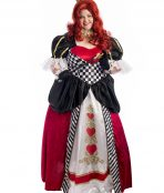 Queen of Hearts of Plus Size Costume, Alice in Wonderland, Queen, Royal,