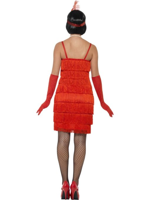 red short flapper costume