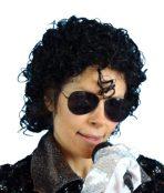 Black curly wig