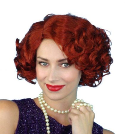 wig 1920s red