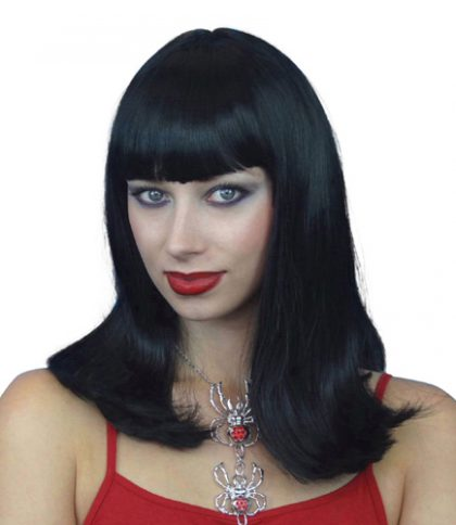 Black shoulder length wig