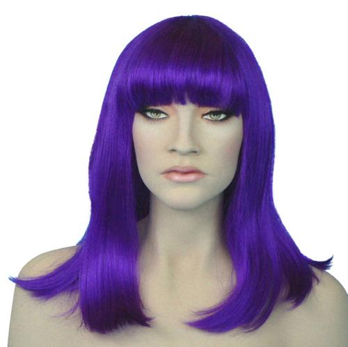 long purple wig