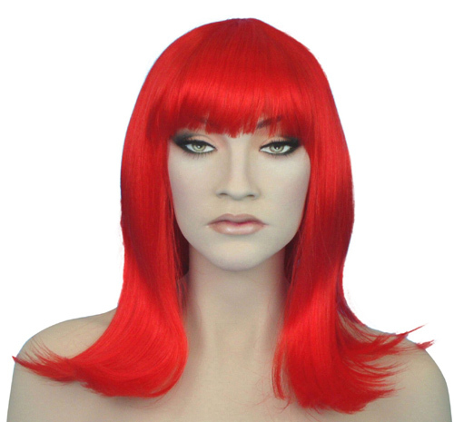 shoulder length red wig