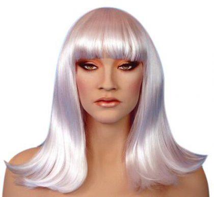 white cleo wig