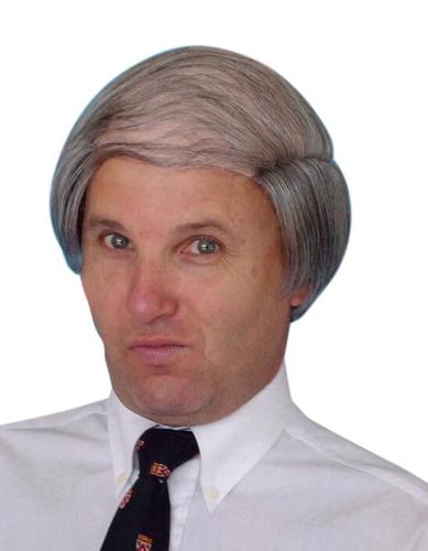 grey mens wig