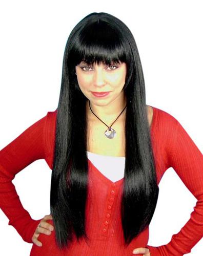 Black straight wig