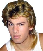 mullet 80s wig