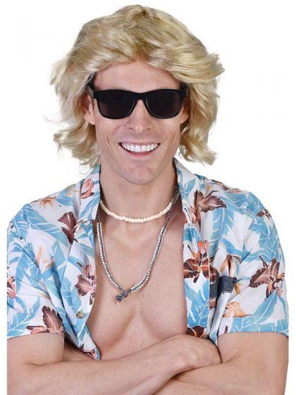 Blond mullet wig